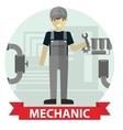 Flat modern design of Male mechanic cartoon vector image