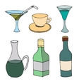 bottle and cup vector image