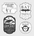 Funny vintage Halloween potion labels vector image