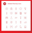 25 pharmacy icons vector image vector image