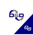 abstract arrow logo icon isolated point logo web vector image vector image