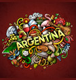 argentina hand drawn cartoon doodles vector image