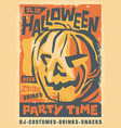 artistic hand drawn halloween party poster vector image