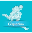 Background with zodiac sign Aquarius vector image vector image