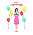 birthday party greeting concept vector image vector image