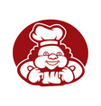 black and white chef used for logos and other vector image