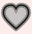 black lacy openwork heart gentle luxurious vector image vector image