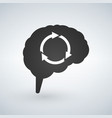 brain storming session abstract with arrows vector image