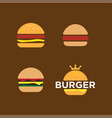 burger logo design template vector image