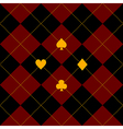 Card Suits Black Royal Red Diamond Background vector image vector image