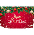 christmas design for greeting card or site header vector image vector image