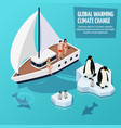 climate change isometric composition vector image