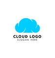 Cloud logo design template icon