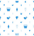 cold icons pattern seamless white background vector image vector image