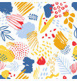 colorful seamless pattern with paint traces brush vector image vector image