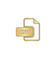 CSV computer symbol vector image