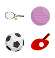 design of ball and soccer icon collection vector image