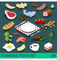 Diet Set 08 Food Isometric vector image