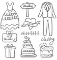 doodle of element wedding style vector image vector image