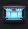empty music show stage with spotlights beams vector image