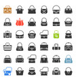 fashion bag icon in various style such as tote vector image vector image