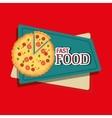 fast food offer design vector image