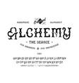 font alchemy craft retro vintage typeface design vector image vector image