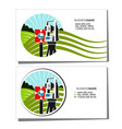 geodesy and cadastre business card vector image vector image