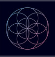 geometric shape with vibrant gradient vector image