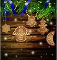 gingerbread cookies decorations vector image
