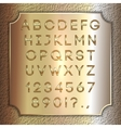 gold coated alphabet letters digits and vector image vector image