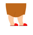 grandmother legs are in slippers feet of an vector image vector image