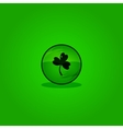 Green button clover vector image vector image