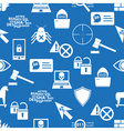 hacker and computer security theme icons blue vector image vector image