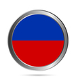 Haiti flag button vector image vector image