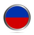 Haiti flag button vector image vector image