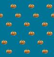 halloween seamless pattern with orange pumpkin vector image vector image