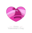 happy valentines day greeting card with love heart vector image vector image