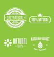 health and beauty care logos or labels vector image vector image
