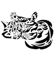 High quality kitty tattoo vector image vector image