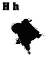 Hippo with jackhammer and letter vector image vector image