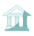 isolated bank building vector image vector image