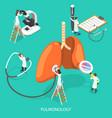 isometric flat respiratory vector image
