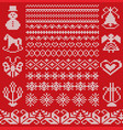 knit geometric ornament borders and design vector image vector image