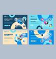 laundry concept landing web page template set 3d vector image vector image