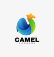 logo camel gradient colorful style vector image vector image