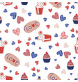love drink valentines day seamless pattern vector image vector image