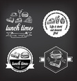Lunch menu restaurant design vector image vector image