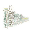 marriage text background word cloud concept vector image vector image