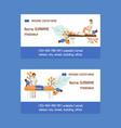 medical massage set business cards vector image vector image